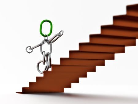 Kette Männchen Treppe