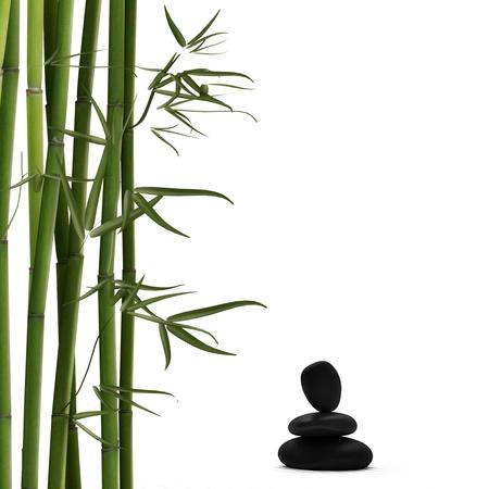 Bamboo mit Lava Standard-Bild