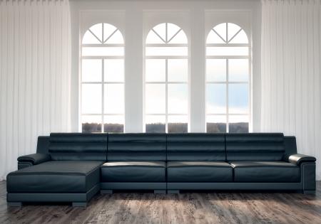 Black Sofa Standard-Bild