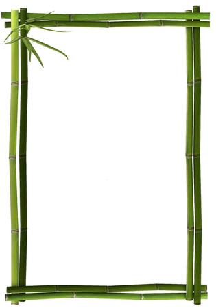 Bambus-Rahmen grün Porträt Standard-Bild - 25284546