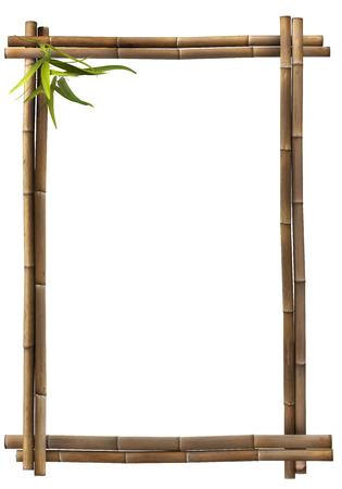 Bamboe frame bruine portret Stockfoto