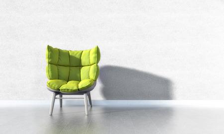 tile cladding: Green Chair
