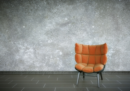 flagging: Red Chair Stock Photo