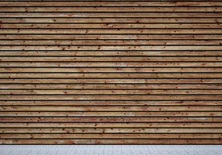 Wall with shabby wooden planks Standard-Bild