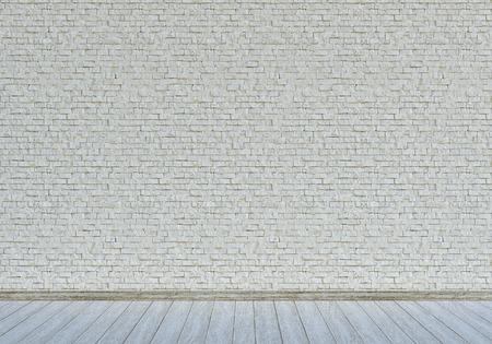 Wall with white bricks Standard-Bild