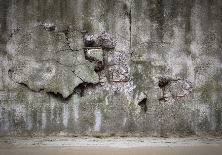 Old damaged concrete wall