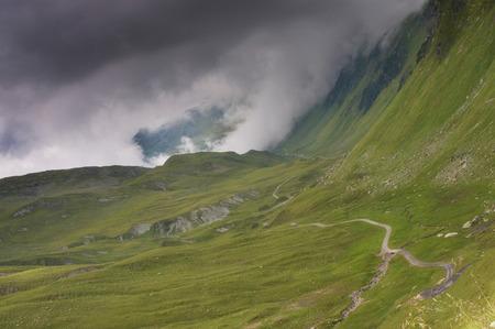 Trail with dark rainy clouds - Montafon, Austria
