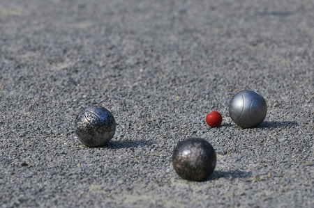 Playing Petanque  3 balls