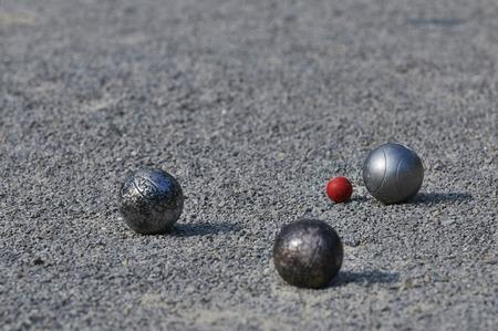 Spielen Petanque 3 Bälle Standard-Bild - 28516613