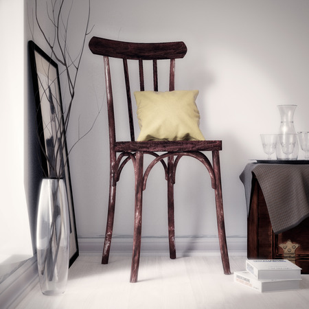 Old brown chair