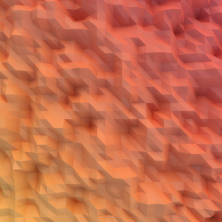 displacement: Abstract mosaic wallpaper RED 3D displacement Stock Photo