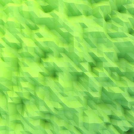 Abstract mosaic wallpaper GREEN 3D displacement Standard-Bild