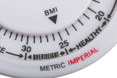 bmi: body mass index on white background