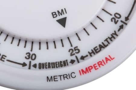 BMI: body mass index on white background