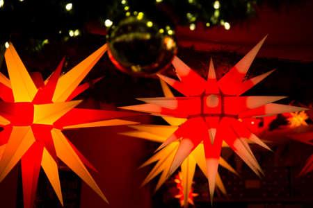 loitering: two bright Christmas stars Stock Photo