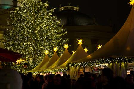 shining stars on the Christmas market photo