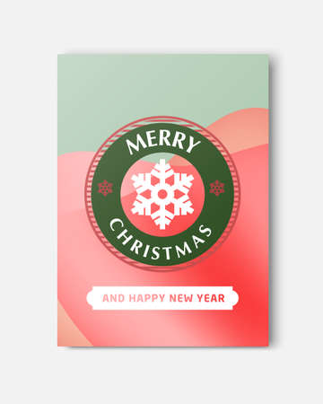 Merry Christmas And Happy New Year Greeting Card Typography Flyer