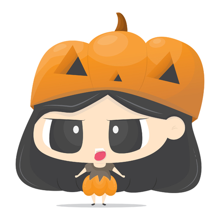 kid vector: Halloween cute kid vector