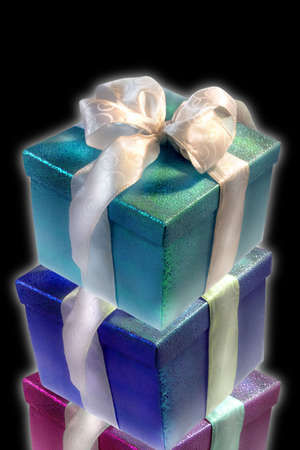 gift boxes in black Stock Photo - 1974971