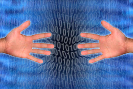 hands and internet technology Stock Photo - 2072879
