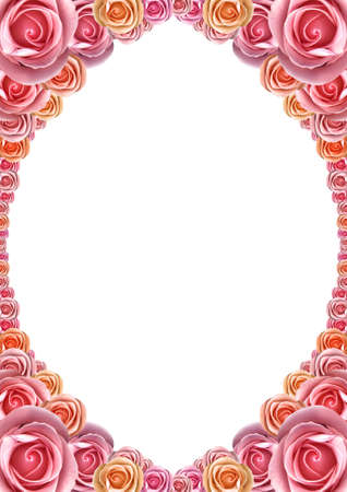 Framework from roses Stock Photo