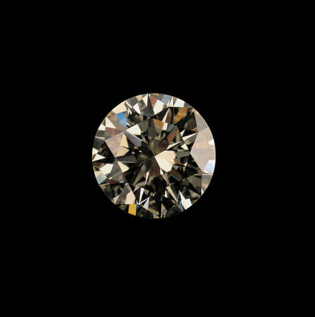 close up shot of a diamond in black Stock Photo - 2412309