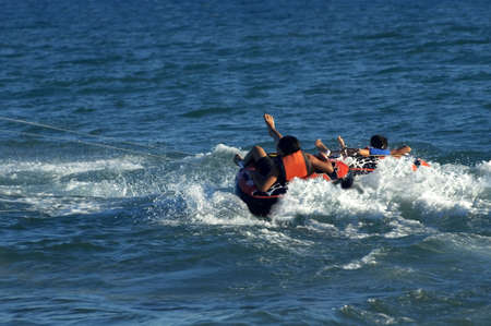 people having fun water sport on the sea Stock Photo - 2495478