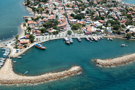 elevated view of old city and harbour Antalya, Turkey Stock Photo - 2495824