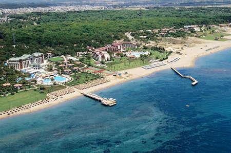 elevated view of Mediterranean coast Antalya, Turkey