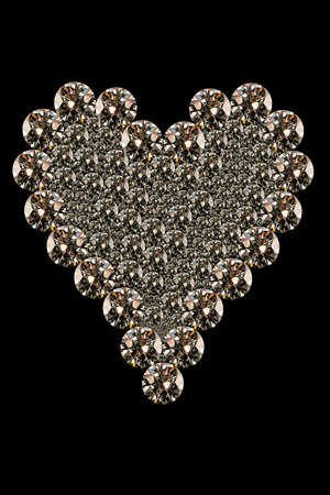 close up image of a heart shaped diamonds  Stock Photo - 2413766