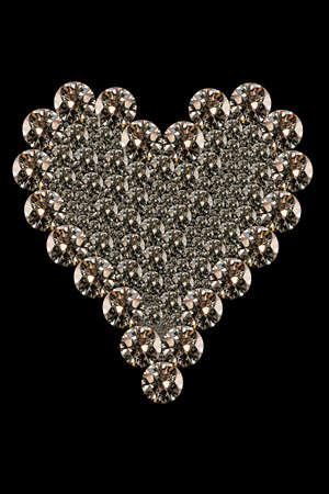 heart shaped: close up image of a heart shaped diamonds