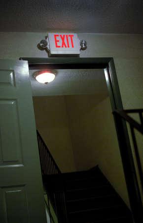 close up shot of an exit door Stock Photo - 2606950
