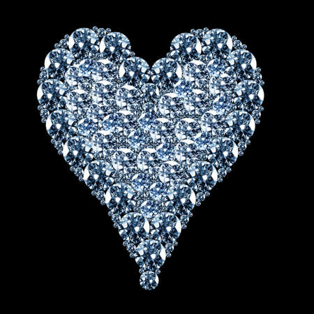 close up image of a heart shaped diamonds