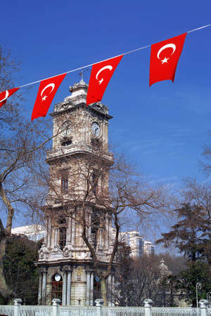 dolmabahce palace  clock tower in istanbul, Turkey Stock Photo - 3462360