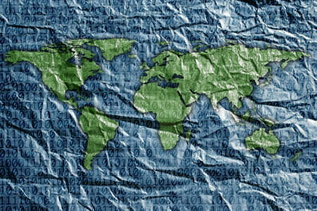 0 geography: close up shot of world map