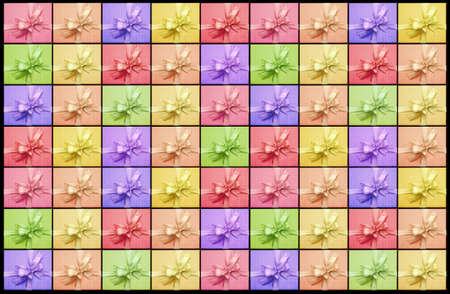 background image of colorful giftbox in a row photo
