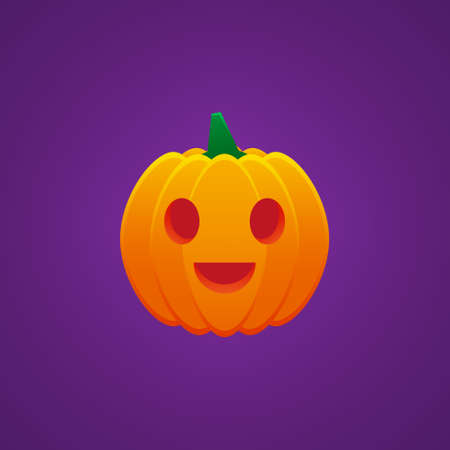 Halloween Jack O Lantern Pumpkin Expression Grin Emoticon Vector Design