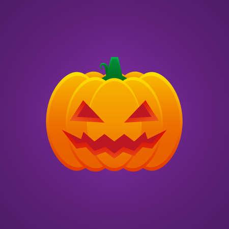 Halloween Jack O Lantern Pumpkin Expression Evil Emoticon Vector Design