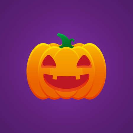 Halloween Jack O Lantern Pumpkin Expression Smiling Mouth Emoticon Vector Design