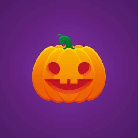 Halloween Jack O Lantern Pumpkin Expression Fool Emoticon Vector Design