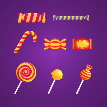 Halloween Candy Bundle Vector Design Illustration
