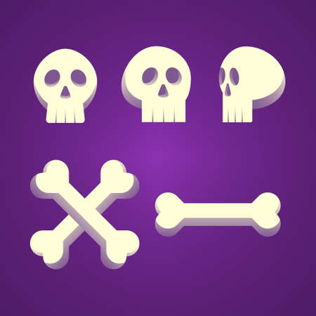 Halloween Skull Bundle Vector Design Illustration