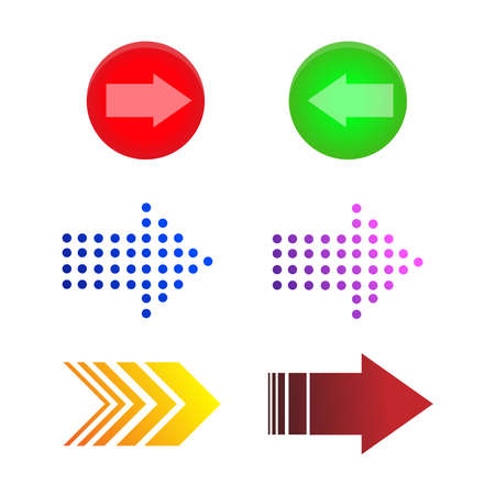 illustration of arrow icons set perfect for traffic sign and directing
