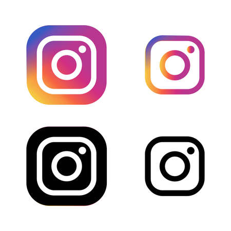 Illustration vector graphic of camera and instagram icon Vector Illustration