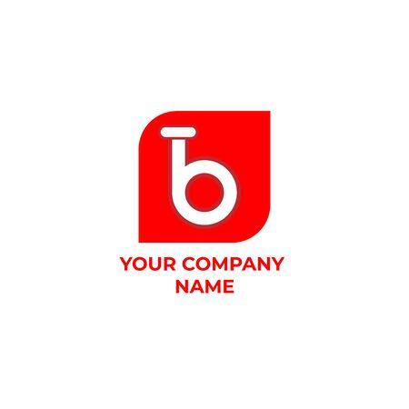 b  design. simple and modern Ilustracja