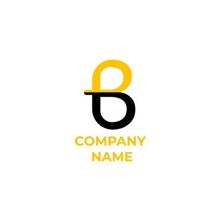 iniital letter b  design. simple and modern  for business Ilustracja