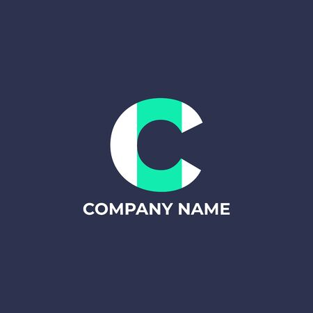 Initial letter C  design. C  for business or company