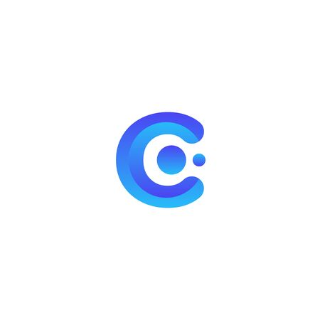 C gradient. initial letter gradient  for your company or business Ilustracja
