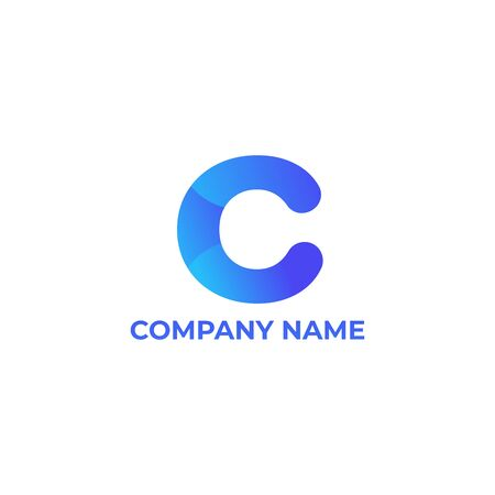 letter c. letter c with gradient style for your company or business