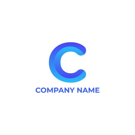 letter c  with gradient style Ilustracja